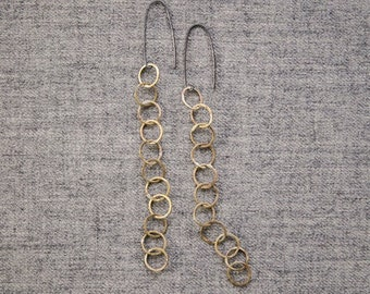 Circle Earring Rainchain  Sm5