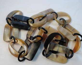 EXTRA Large Lucite Chain Link Modernist Necklace