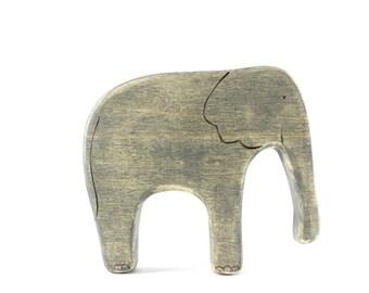 elephant wooden toy, waldorf toys, wooden toy animals,  elephant figurine