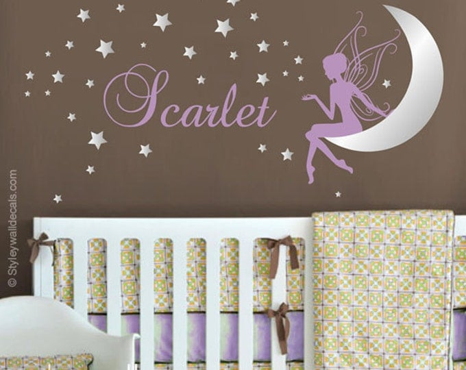 Wall Art Design Etsy Coupon Code : Off coupon on fairy wall decal baby girl room nursery