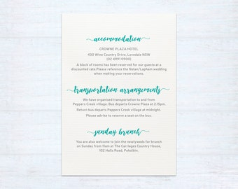 Printed Information Card – Watercolour
