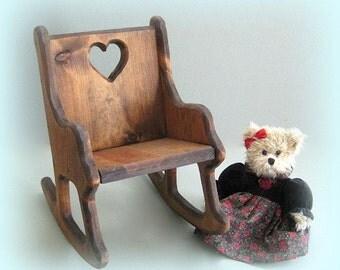 Miniature Chair Doll Furniture Miniature Furniture Large Doll Chair Doll Display Rocking Chair Handmade Chair Decor Wood Chair Toy Small