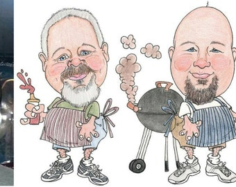 Two Person Custom Caricature-Theme