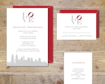 Philadelphia Love Park, Philadelphia, Love, Wedding Invites, Love Park, Love Sign Wedding, Rustic Wedding, Wedding Invitations, Invitations