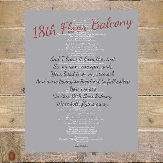 Blue october blue october lyrics 18th floor balcony lyrics for 18th floor balcony cover