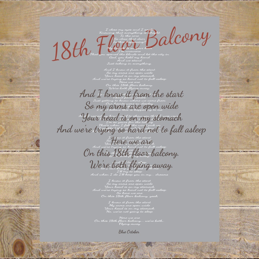 blue october blue october lyrics 18th floor balcony lyrics