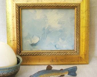 Cloud Painting , Landscape , Cloudscape , Framed , Hand Painted , Art , Original , Fine Art , Handmade , Sky Blue , Fluffy Clouds , Serene