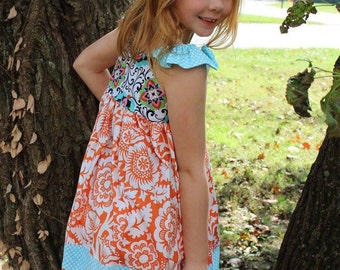 Clearance Boutique Girls flutter dress, sizes 6mos-8, toddler and infant  dress, girls ruffle dress