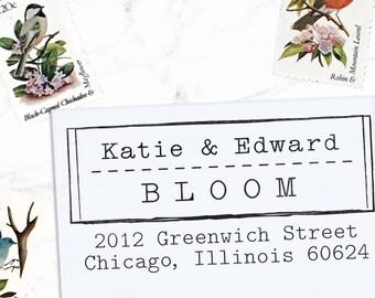 Custom Address Stamp, Return Address Stamp, Wedding address stamp, Address Stamp, Self inking or Eco mount stamp - Old Type