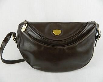 Vintage Gucci Leather Chocolate Brown Shoulder Satchel Bag