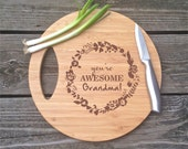 Cutting Board For Grandma, You're Awesome Grandma, Holiday Gift Cutting Board, Mothers Day Gift, Engraved BAMBOO Cutting Board, Gift