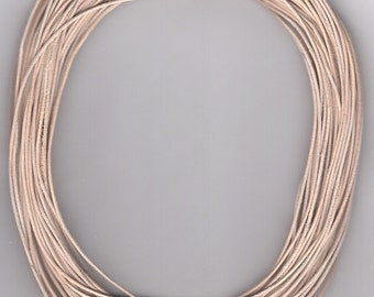 1 mm Leather Cord Natural-Untreated  25 meter Hank