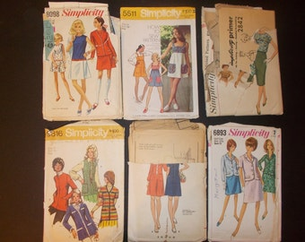 Inventory 81 Vintage Sewing Patterns Lot of 6 size 12