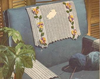Crocheted Chairbacks Crochet Book 105  by Star Chairbacks Book dated 1954