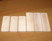 """Ash  wood Tiles blanks for decoupage ( lot of 6 )- (3,54-2,76x1,38"""" diameter x 0,24"""" thick)"""
