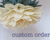 CUSTOM ORDER for SCOTTS1021 - 30 Giant Paper Flowers, wonderland wedding, bridal/baby shower, fairy party decor. Party Blooms by Whimsy Pie