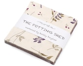 "The Potting Shed by Holly Taylor for Moda - 100% Cotton - 42 / 5"" Square Charm Pack"