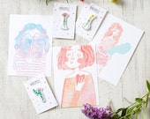Set of three postcards Be Kind to Yourself