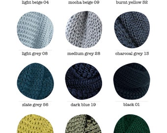Yarn Color Card / Colors / Color Variations / marcellamoda - MA1000