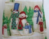 Plastic Bag Holder Kitchen Bag storage- Snowman Family