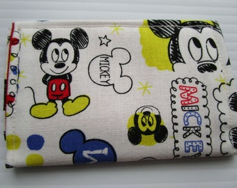 Mickey Mouse Wallet, Disney Pass Holder, Credit Card Wallet, Business Card Holder, Small Wallet, Fabric Wallet, Baby Mickey Walt Disney