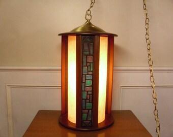 ON SALE  Vintage 1960's  Swag Lamp