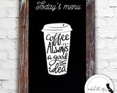 Coffee Vinyl Decal, Laptop Decal, Laptop Sticker, Car Window Decal, Coffee Shop, Coffee Cup, Typography, Phone Sticker, I Love Coffee