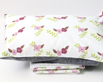 Toddler Bedding - Toddler Bedding Set - Toddler Blanket - Toddler Pillow - Toddler Gifts  - Toddler Girl Bedding -Kids bedding Girls -Floral