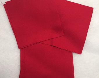 """Kona Solid """"Red"""" Color 5 Inch Quilt Squares, Sewing, Quilting Precut Fabric Squares, Robert Kaufman Die Cut Charm Pack, Quilt Fabric"""