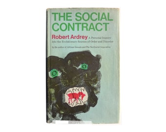 """Joseph Low book cover design, 1970. """"The Social Contract"""" by Robert Ardrey"""