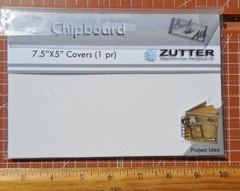 White chipboard Book Covers  7 1/2 x 5 inches Zutter