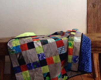 Baby boy quilt / blanket