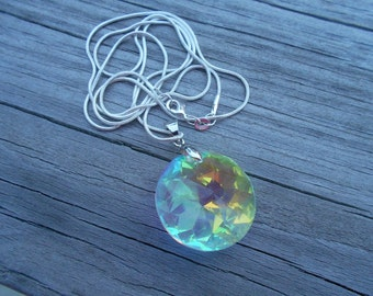 Round Swarovski Crystal Pendant Necklace