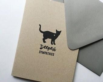 subtle + sweet pet cat sympathy greeting card