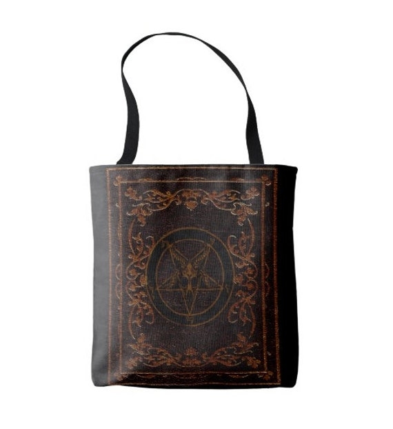 Baphomet Pentagram Grimoire Magic Tote Bag