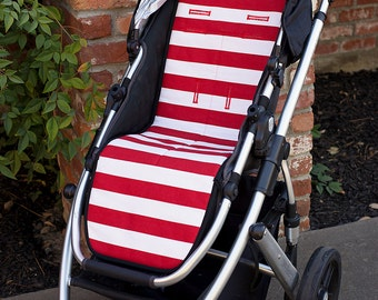 Reversible Stroller Pad Liner  Uppababy Vista - Uppababy Cruz  - - - Made to Order - - -