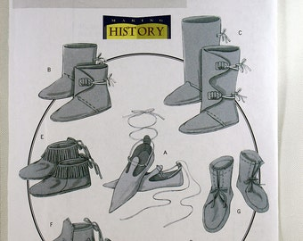 Butterick 5233, Historical Footwear Sewing Pattern, Costume Shoes Sewing Pattern, Costume Footwear Pattern, Uncut