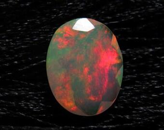 Ethiopian Welo OPAL - AAAAAAAAAA - High Quality Fine Cut Faceted Oval Stone Full Flashy Color Full Fire size - 8x10 mm