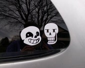 Undertale Decal Set- Sans and Papyrus