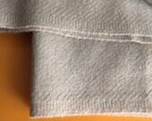 "Vintage Upholstery Fabric - Designtex Wool Saxony - 1980s Buff Ecru ""Antelope"" Color - 6 Yards X 55"" Width - MCM Chair Ready - Crafting"