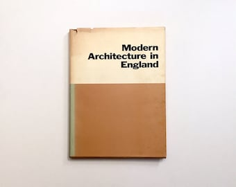 Modern Architecture in England - 1969 MoMA Museum of Art Reprint of 1937 Title - Rare Design Book - European / British Modern