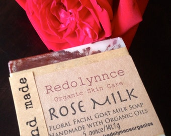 Rose Lovers. Rose Geranium Goat Milk Soap.
