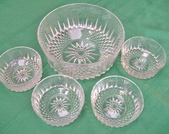 Glass Salad Bowl Set
