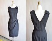 Vintage 1960s I MAGNIN wool cocktail dress