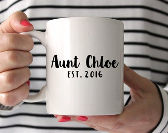 Aunt Gift Aunt Mug Aunt Pregnancy Announcement Aunt Pregnancy Reveal Idea Personalized Pregnancy Announcement Ideas Mug Coffee Mug Custom