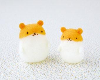 DIY handmade Snow Peas wool felt doll mascot  hamster --- Japanese kit package H441-446