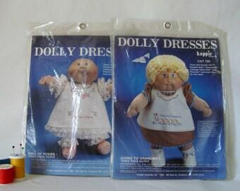 Kits Dolly Dress Sewing 2 Vintage 1984 Unopened Stitchery NIP 1984 Kappie Originals