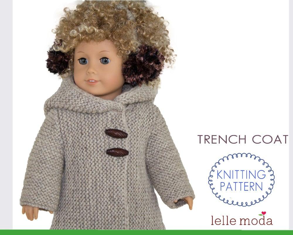 Doll Coat Pattern fits American Girl Dolls 18 inch Doll