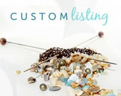 Custom Listing for Alissa - Holiday Gifts for 7 - Gold  Silver and Rose Gold Beaded Wire Bracelets - semiprecious stone pearl crystal