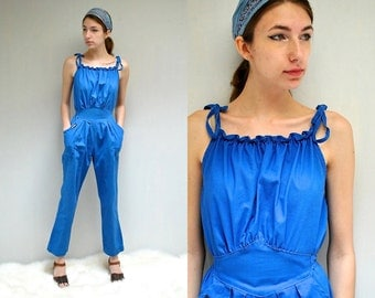 70s Jumpsuit  //  Cotton Jumpsuit  //  THE LOWDOWN